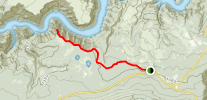 Red Canyon Rim Trail Map