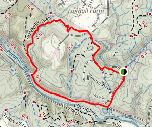Sandstone Trail to Grist Mill Trail Loop Map