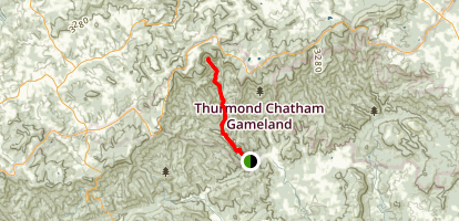Caudill Cabin Trail Map