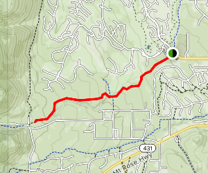 Lower Thomas Creek Trail Map