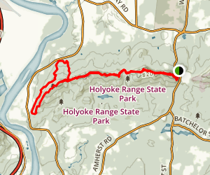 Mt Holyoke Range Trail Map