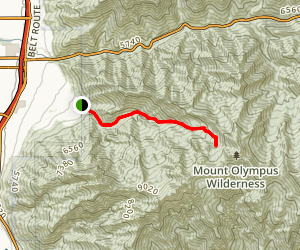 Neffs Canyon Trail Map