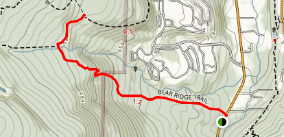 Bear Ridge Trail Map
