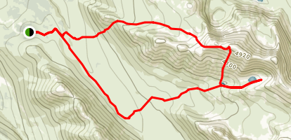 Powerline to Hidden Lake Trail  Map