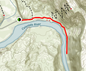 Colorado River via Lees Ferry Map