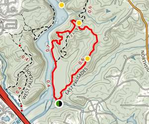 East Palisades Trail Map