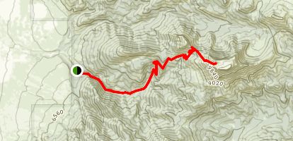 Helmet and Sphinx Mountain Trail Map