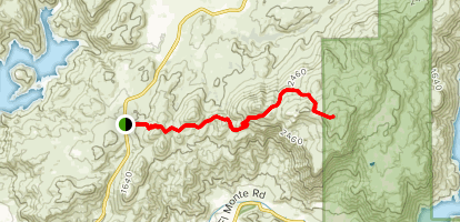 El Cajon Mountain Trail Map