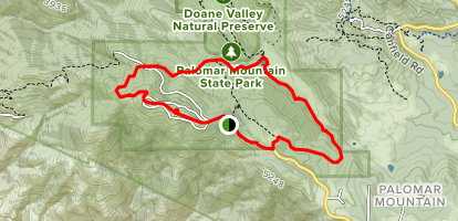 Boucher Trail, Thunder Spring, Silvercrest Trail Map