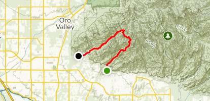 Finger Rock Canyon To Mount Kimbal To Pima Canyon Map