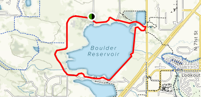 Boulder Reservoir Loop Trail Map