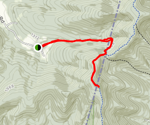 Big Misery Mountain from Southeast Hollow Map