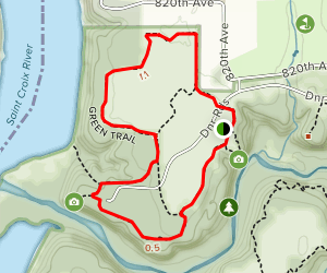 Green, Purple, and Yellow Trail Loop Map