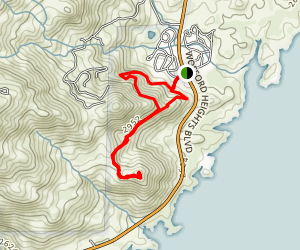 Coso Mine Loop Trail Map