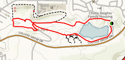 Chollas Lake Park Map
