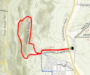 Hogback Ridge Trail Map