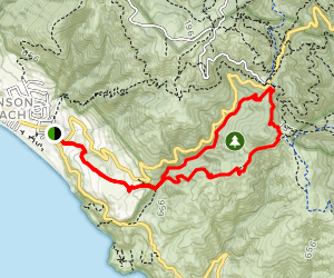 Dipsea Trail to Steep Ravine Trail Loop from Stinson Map