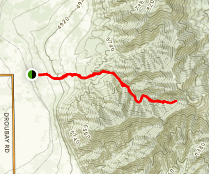 Bates Canyon Trail Map