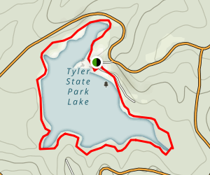 Tyler State Park Lake Loop Trail Map