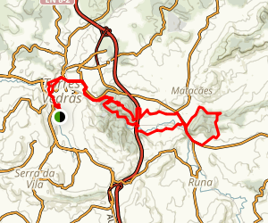 Cucos to Mata do Juncal Mountain Bike Ride Map