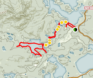 Saint Regis Canoe Area Map