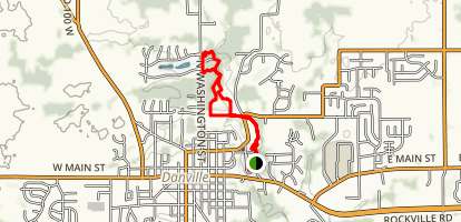 Ellis Park to Blanton Woods Trail Map