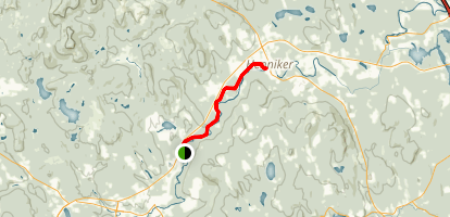 Contoocook River: Hillsboro to Henniker Map