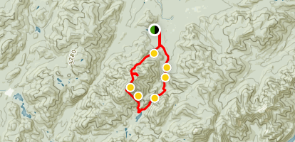 Algonquin Peak and Wright Peak Loop Trail  Map