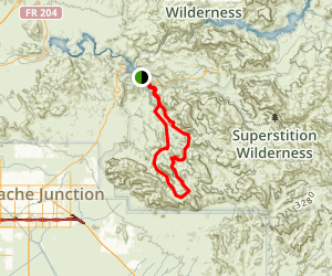 La Barge Boulder Canyon Loop Trail Map