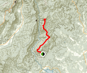 Mountain to Sea Trail: The Chimneys and Table Rock Mountain Map