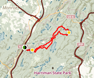 Appalachian Trail: Long Path to Elk Pen Map