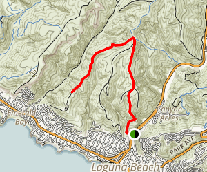 Laguna Bowl Road to Boat Road Map