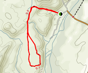 Barranca Hill via Posi Pueblo Trail Map