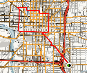 Indianapolis Cultural Trail Map