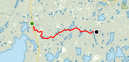 North Country National Trail (NCT): Lake Erin to North Stocking Lake Map
