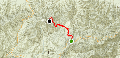 Three Points to Pacifico Mountain Campground via Pacific Crest Trail Map