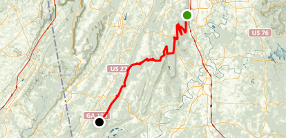 Pinhoti Trail Map