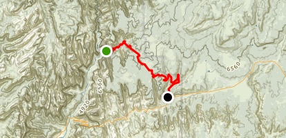 East Rim Trail from Big Bend Map