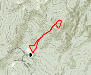Ragged Mountain from Cold Pond Map