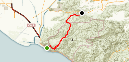 Mugu Peak to Dos Vientos Map