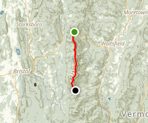 Long Trail: State Route 17 to Lincoln Gap Road Map