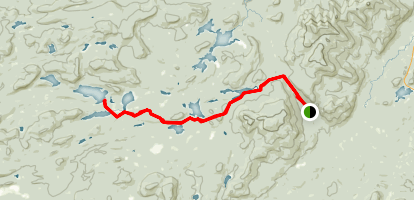 French Louis to West Lake Trail Map