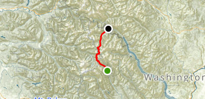 Buck Creek to High Pass Map