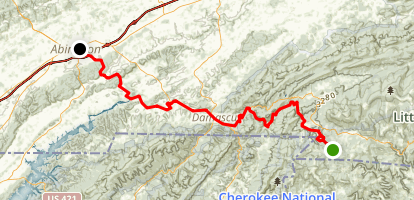 Virginia Creeper National Recreational Trail Map
