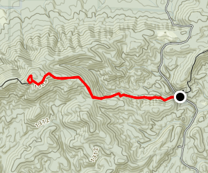 Dugger Mountain from East Map