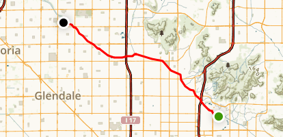 Arizona Canal Trail Map