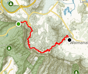 Pali Overlook to Waimanalo Ridge Map