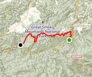 Cove Mountain Trail to Little Brier Gap Map
