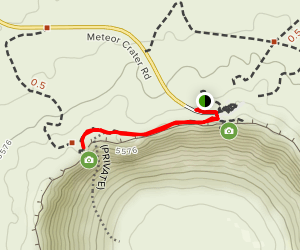 Meteor Crater Trail Map