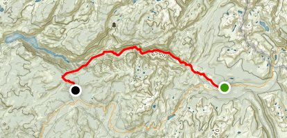 Waterwheel Falls and the Grand Canyon of the Tuolumne Trail Map